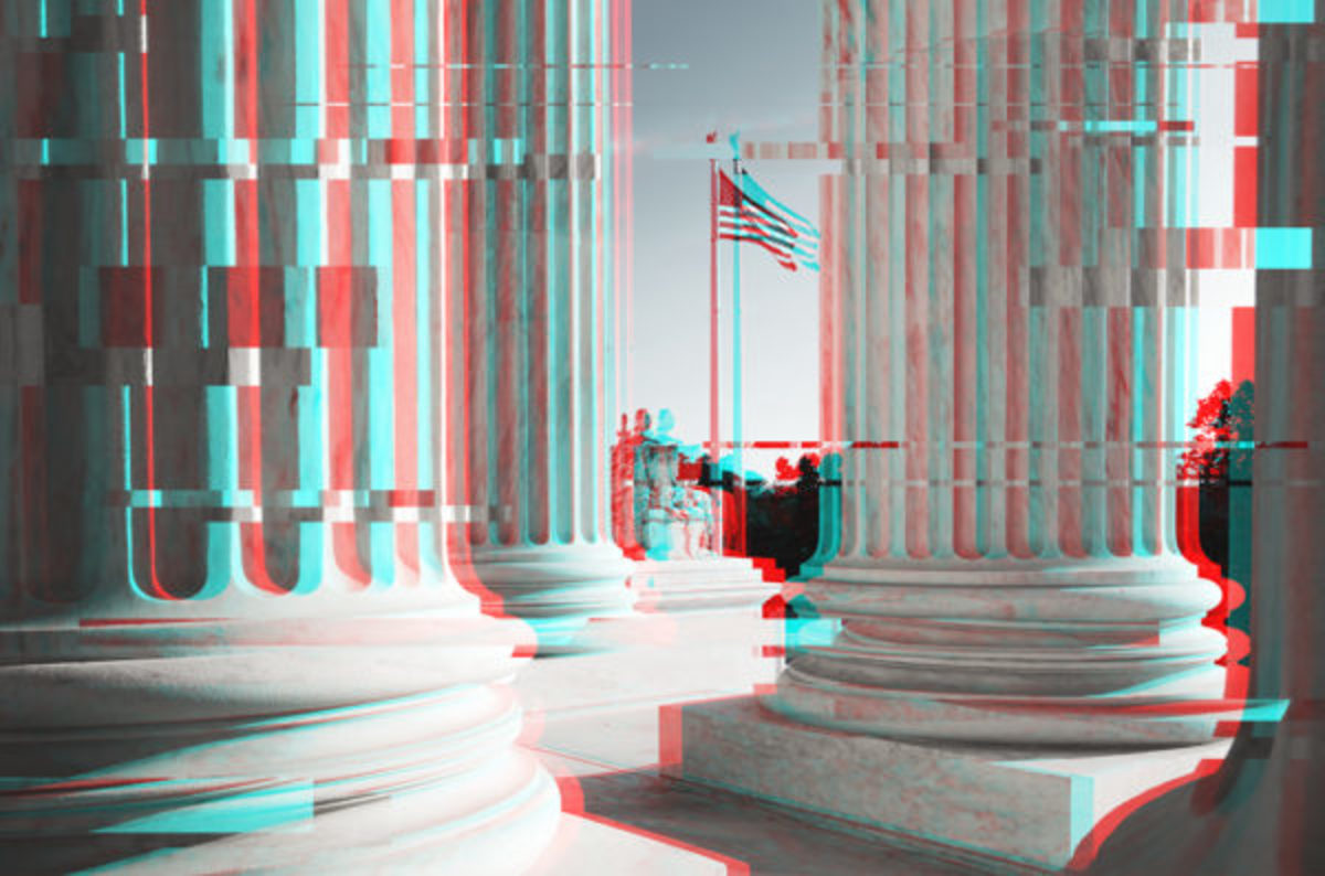 glitchy state capitol building