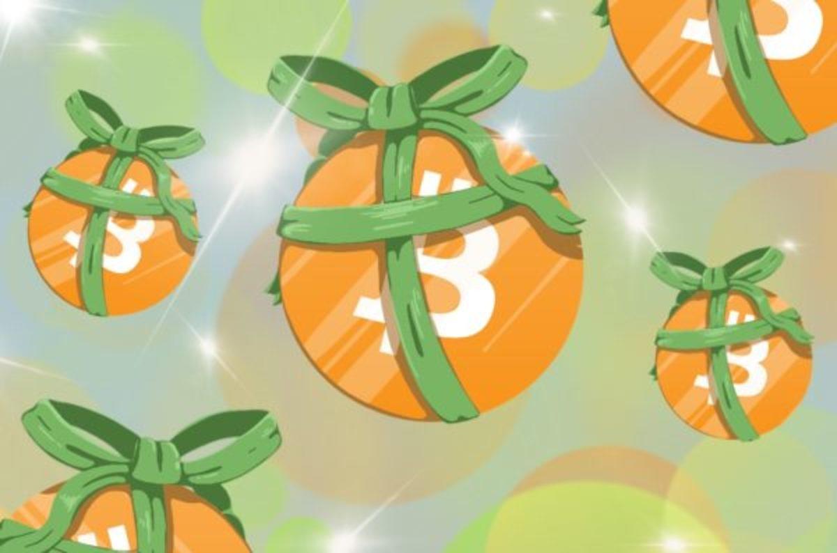 bitcoins wrapped like presents