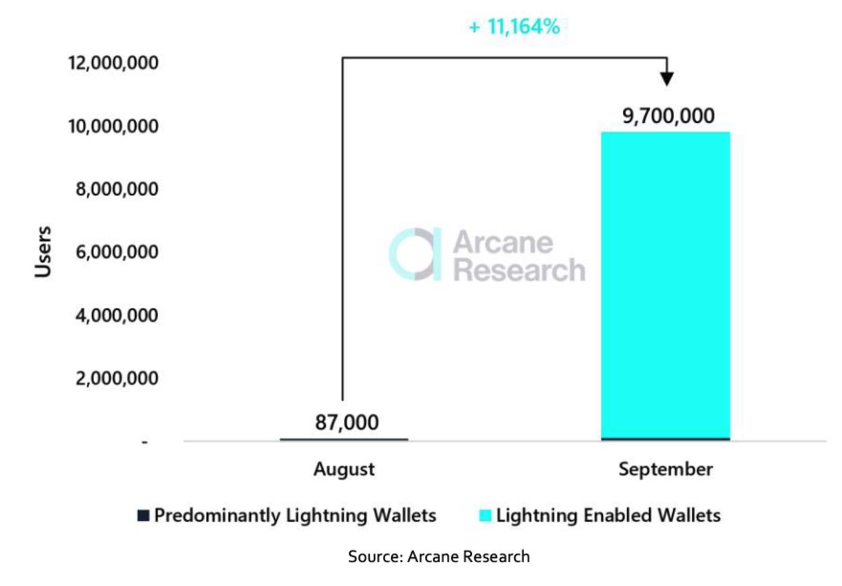 Usuarios con acceso a pagos Lightning.