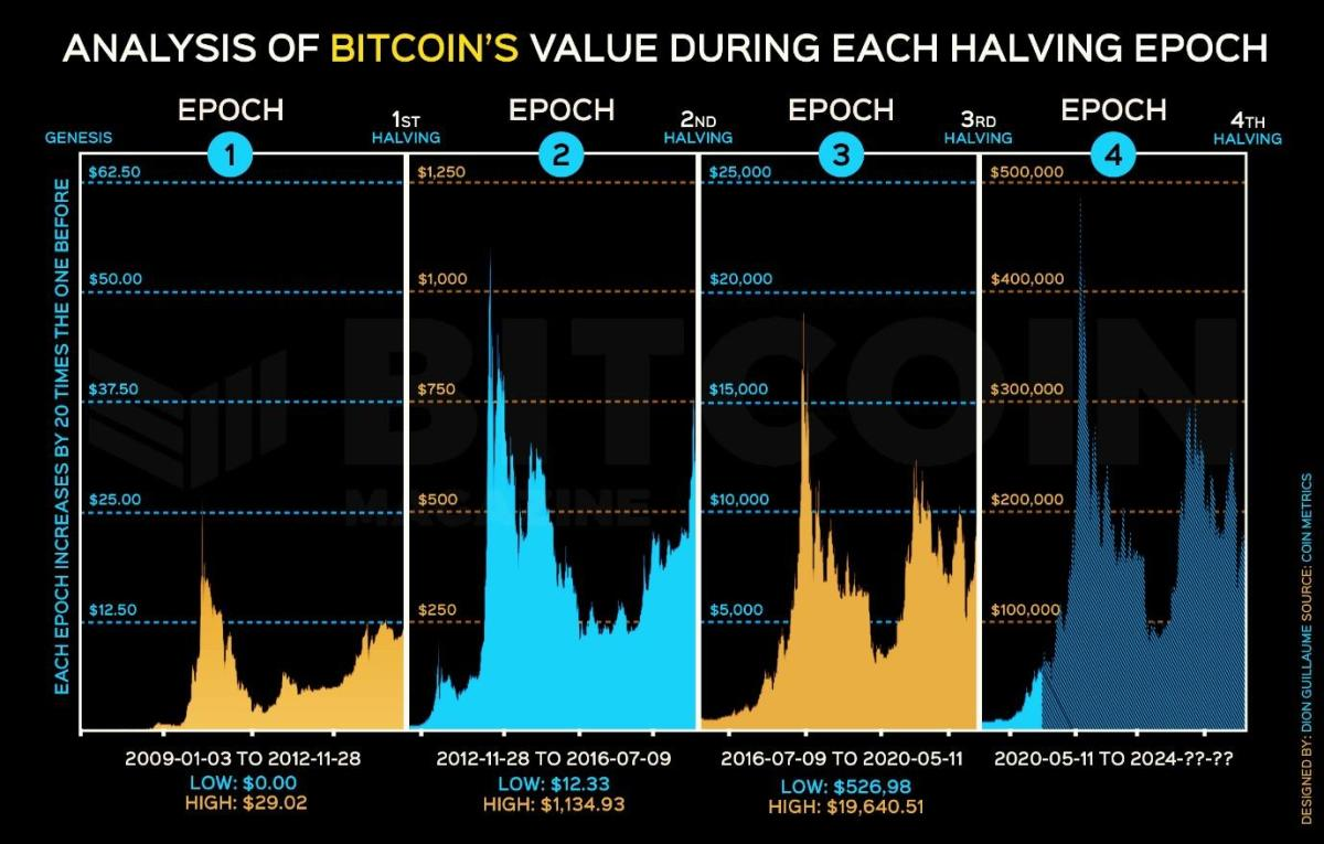 Analysis of the bitcoin price related to each halving