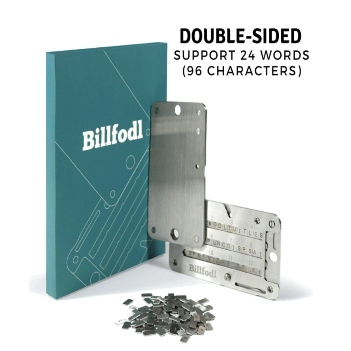 Billfodl products can keep crypto private key or recovery seeds safer than writing them on paper, which is easily damaged by fire or water.
