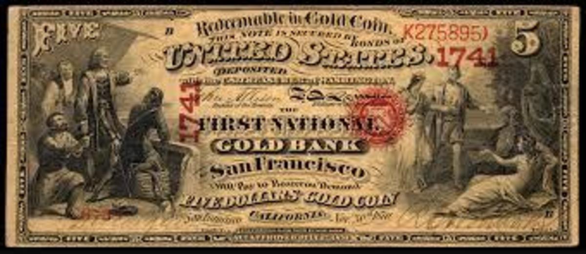 five dollar bill old