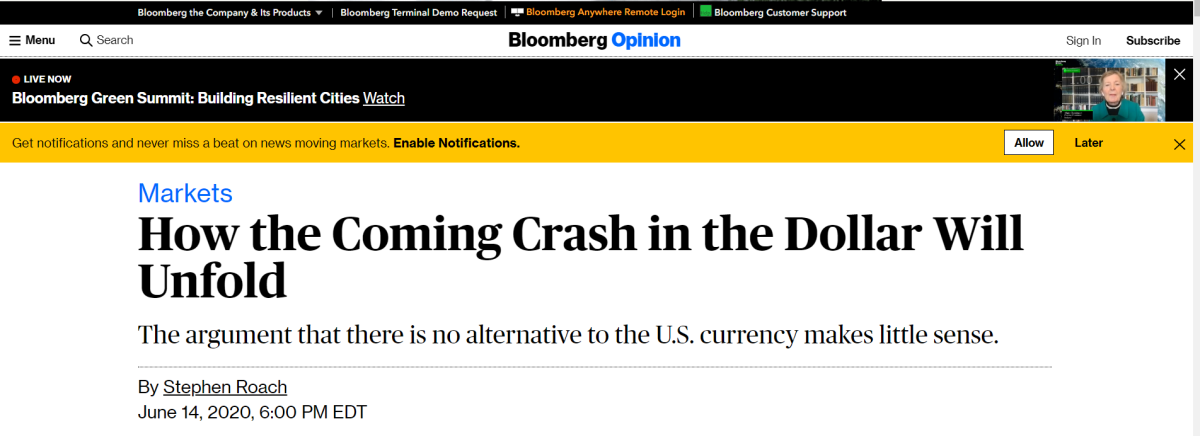 how the coming crash in the dollar will unfold