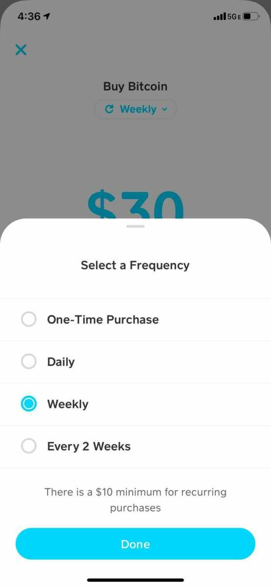 Dollar cost averaging with Cash App is a great way to buy bitcoin