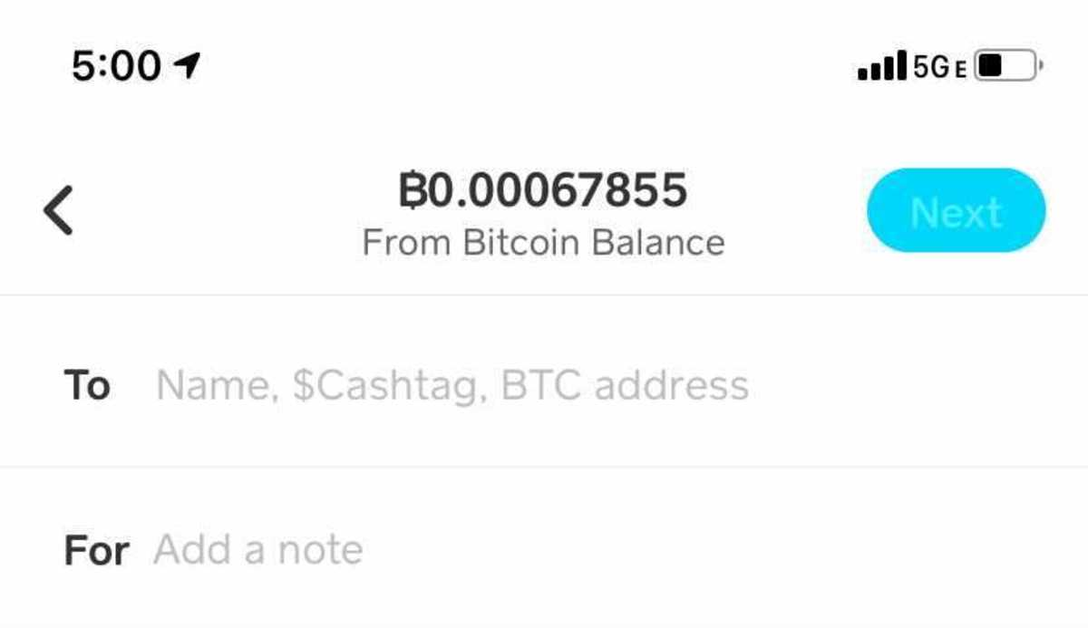 Cash App lets users send cryptocurrency using a bitcoin address or $Cashtag