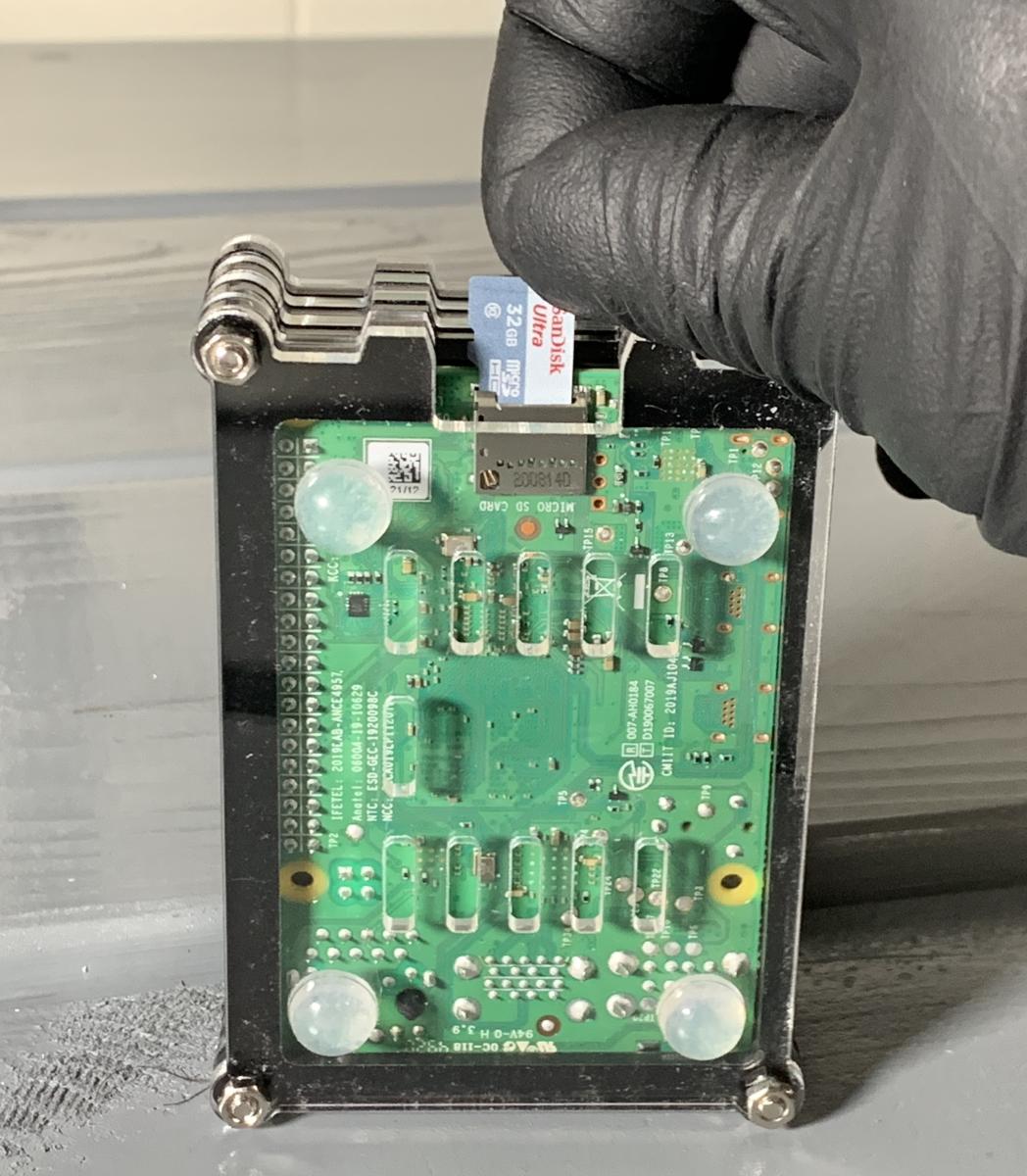To build a bitcoin node you should insert the Micro SD card