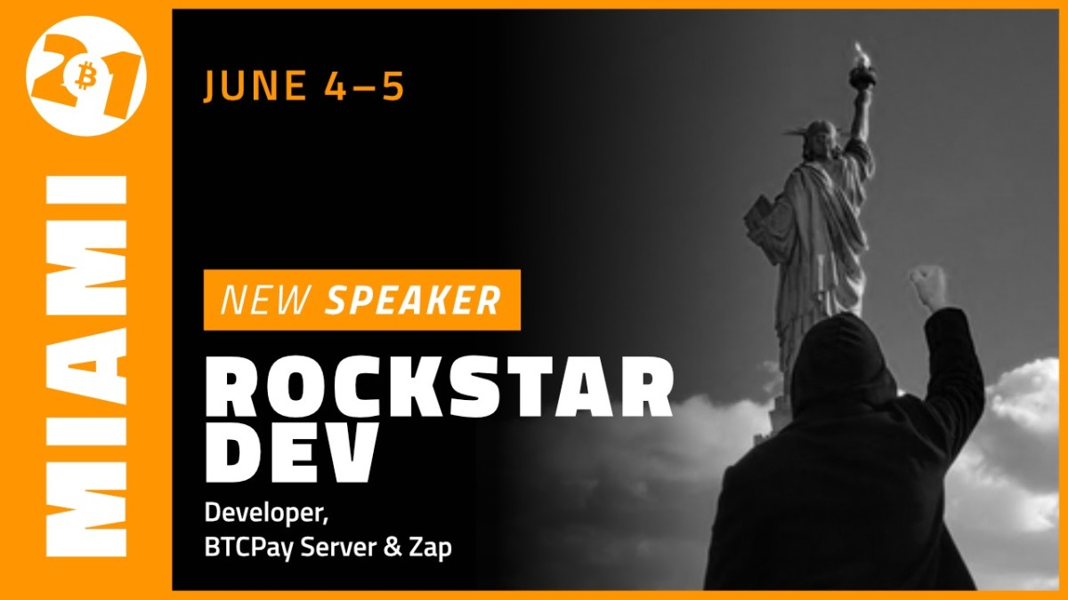 Bitcoin developer and BTCPay Server, Strike contributor R0ckstarDev discussed the upcoming Bitcoin 2021 event in Miami on June 4 and 5.
