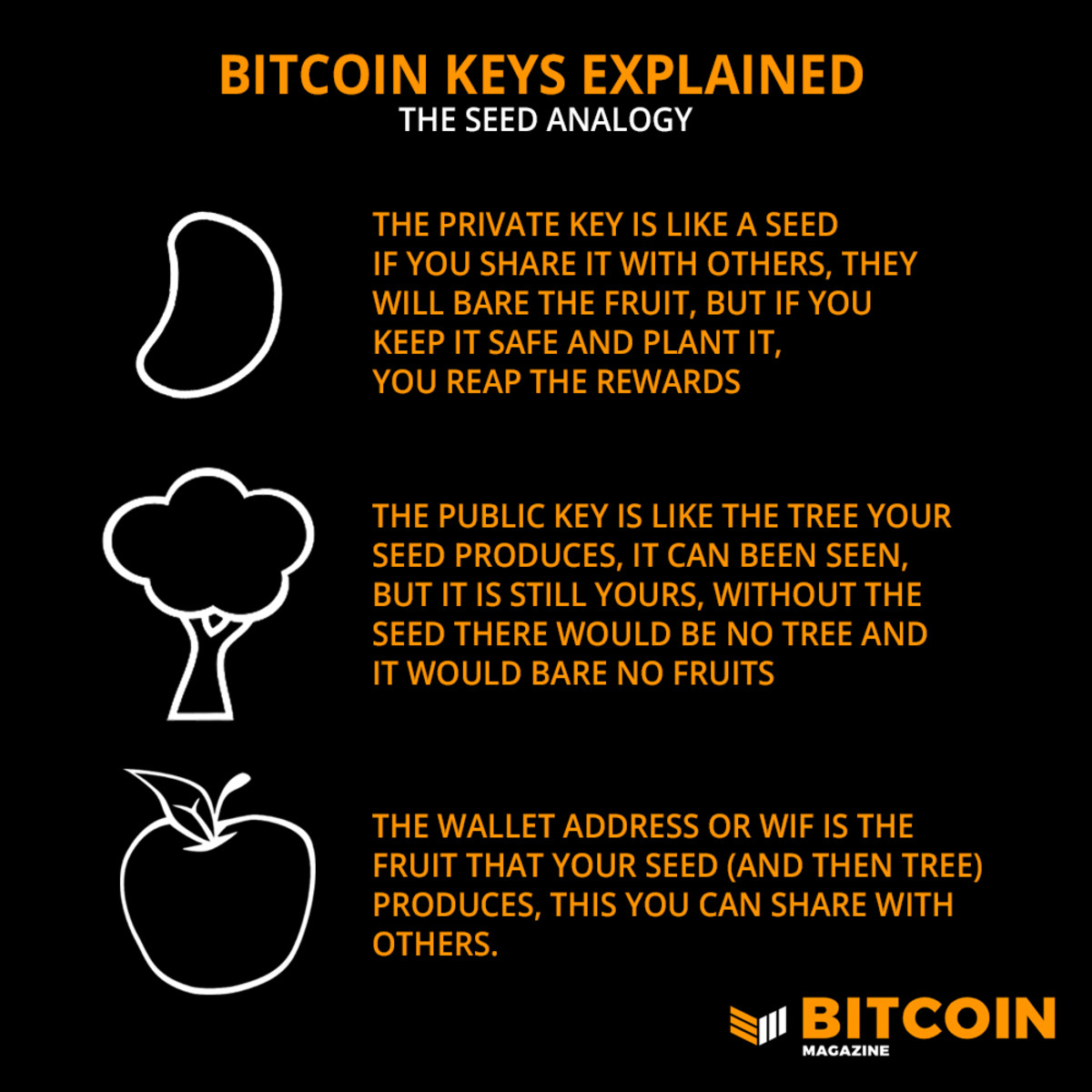 Bitcoin wallets keep digital currency safe. Not your keys, not your bitcoin.