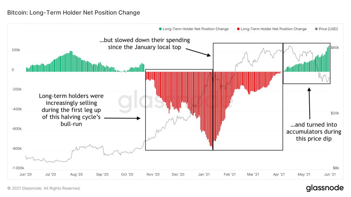 bitcoin long term holder net position change