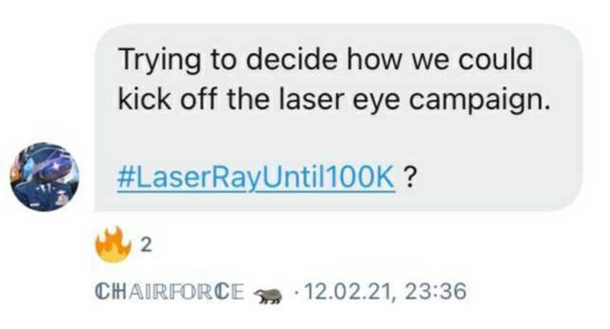 chairforce laser ray until 100k