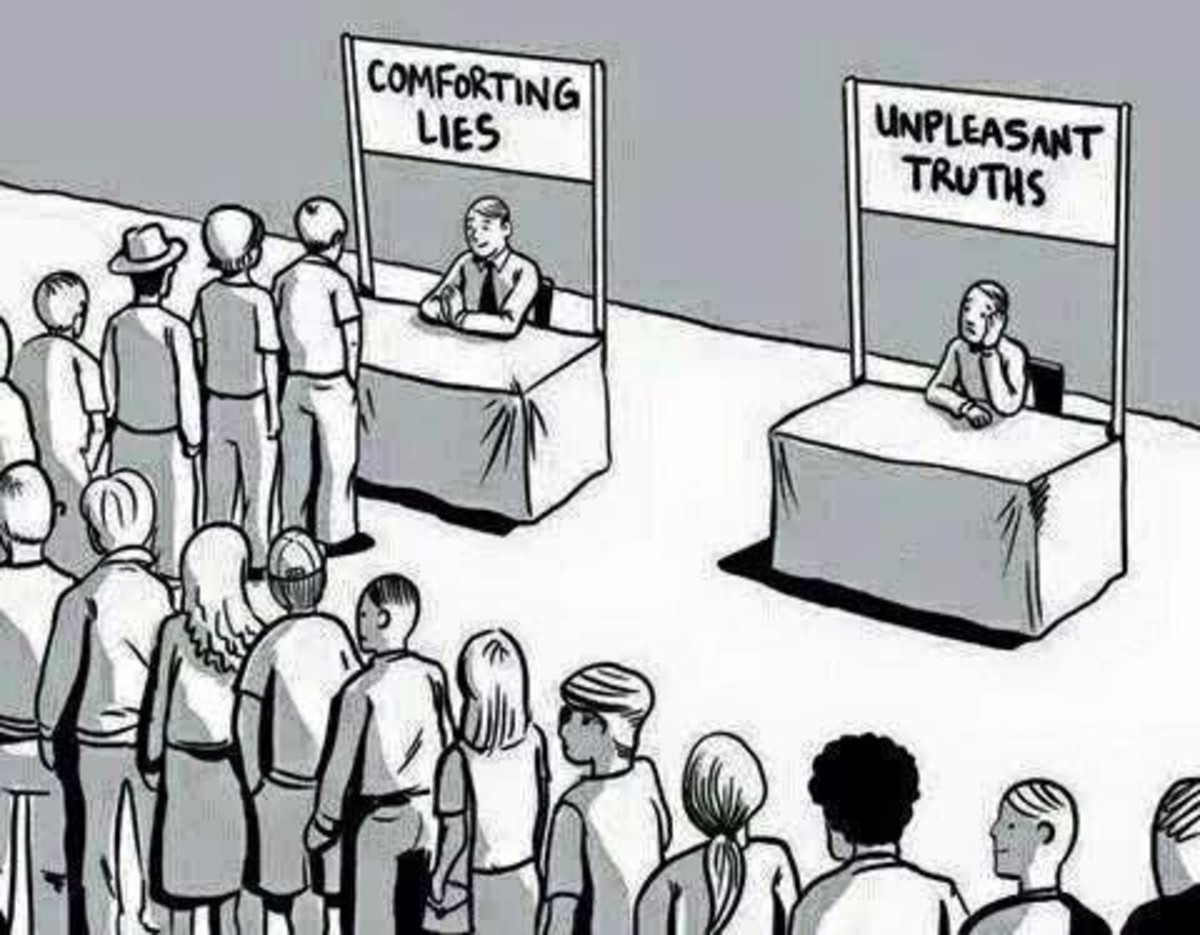comforting lies and unpleasent truths