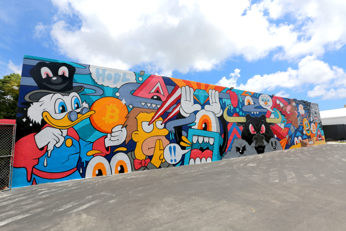 With Bitcoin 2021's Iconic Art Wall, Muralist Greg Mike Captured The Community
