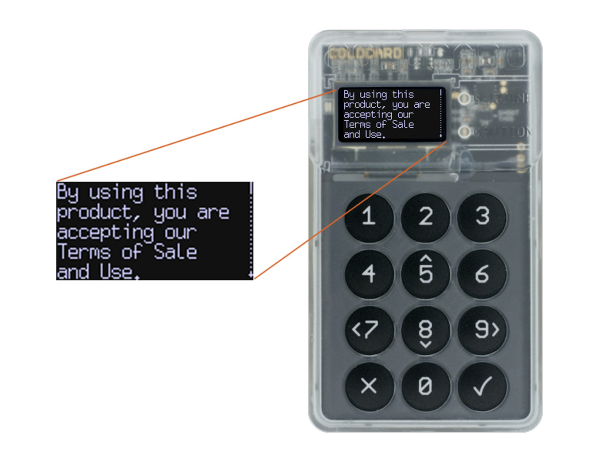 It's easy to set up a bitcoin hardware wallet like ColdCard