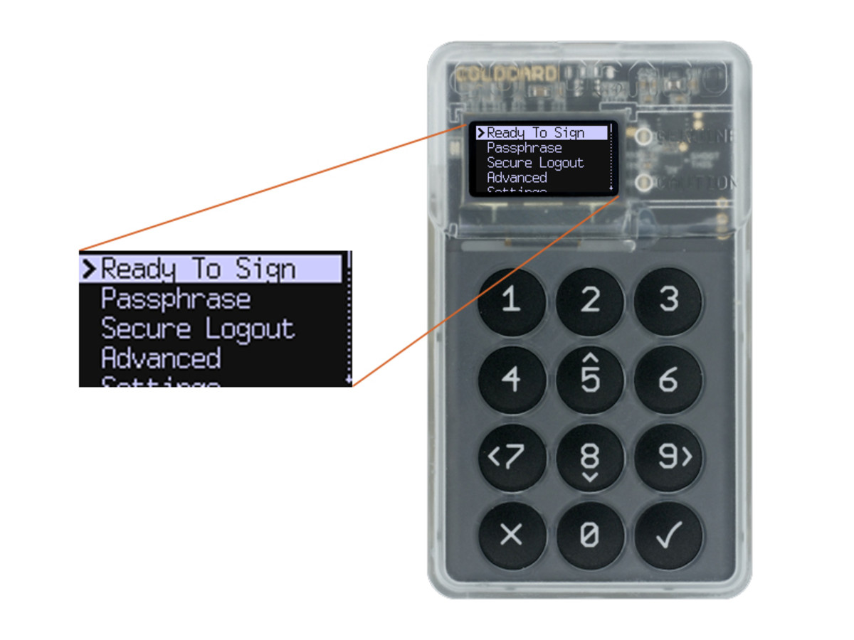 This is how to set up a bitcoin wallet using a ColdCard hardware.