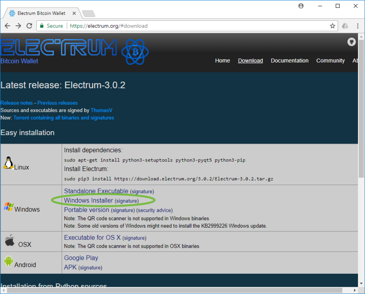 Electrum is one of the most popular bitcoin wallets.