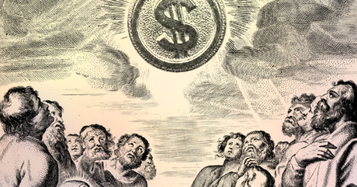 worshipping money as a god