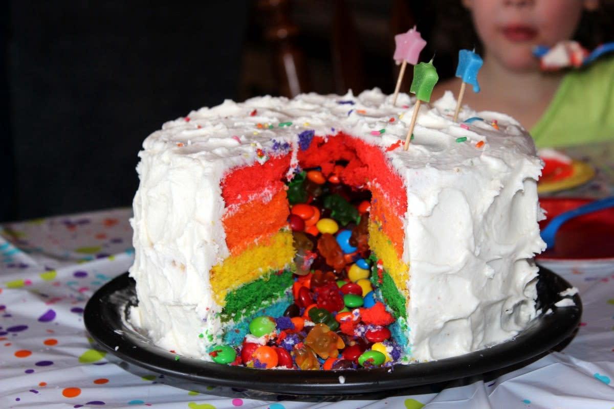 very sugary ice cream cake