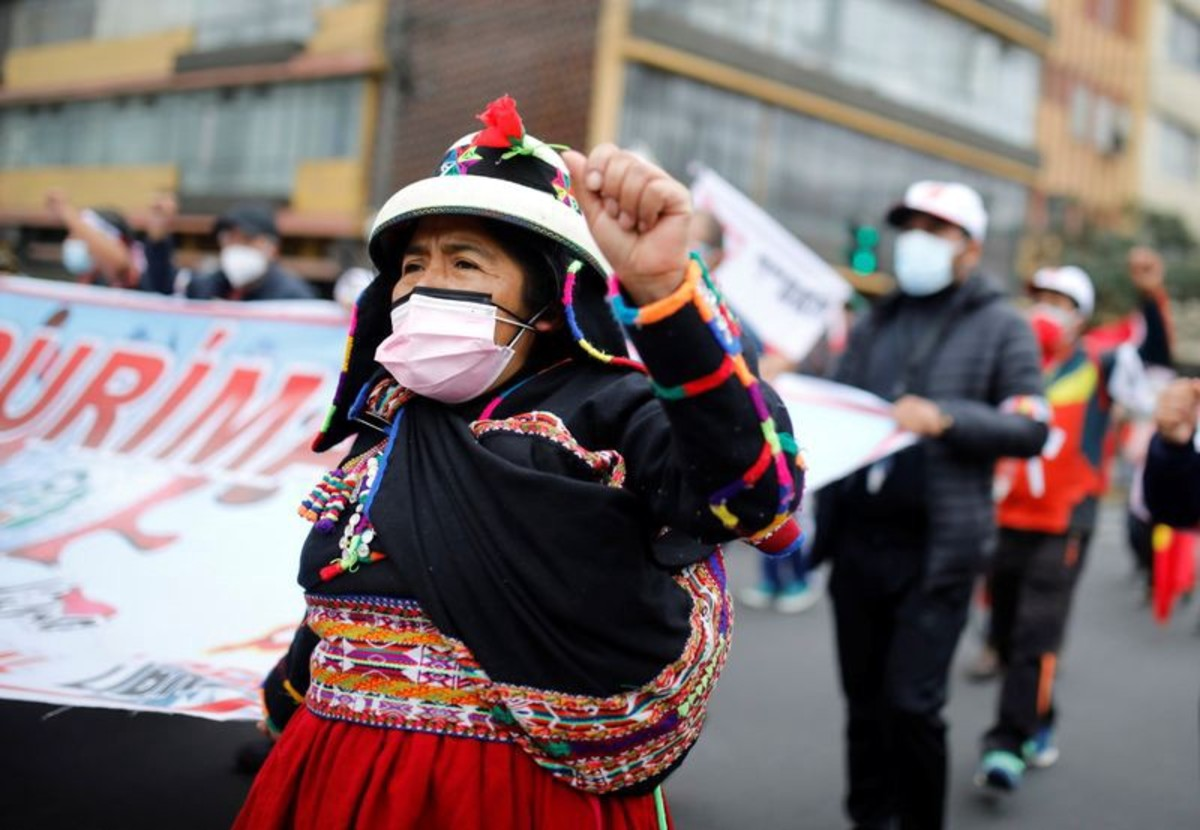 indigenous people protest in Peru