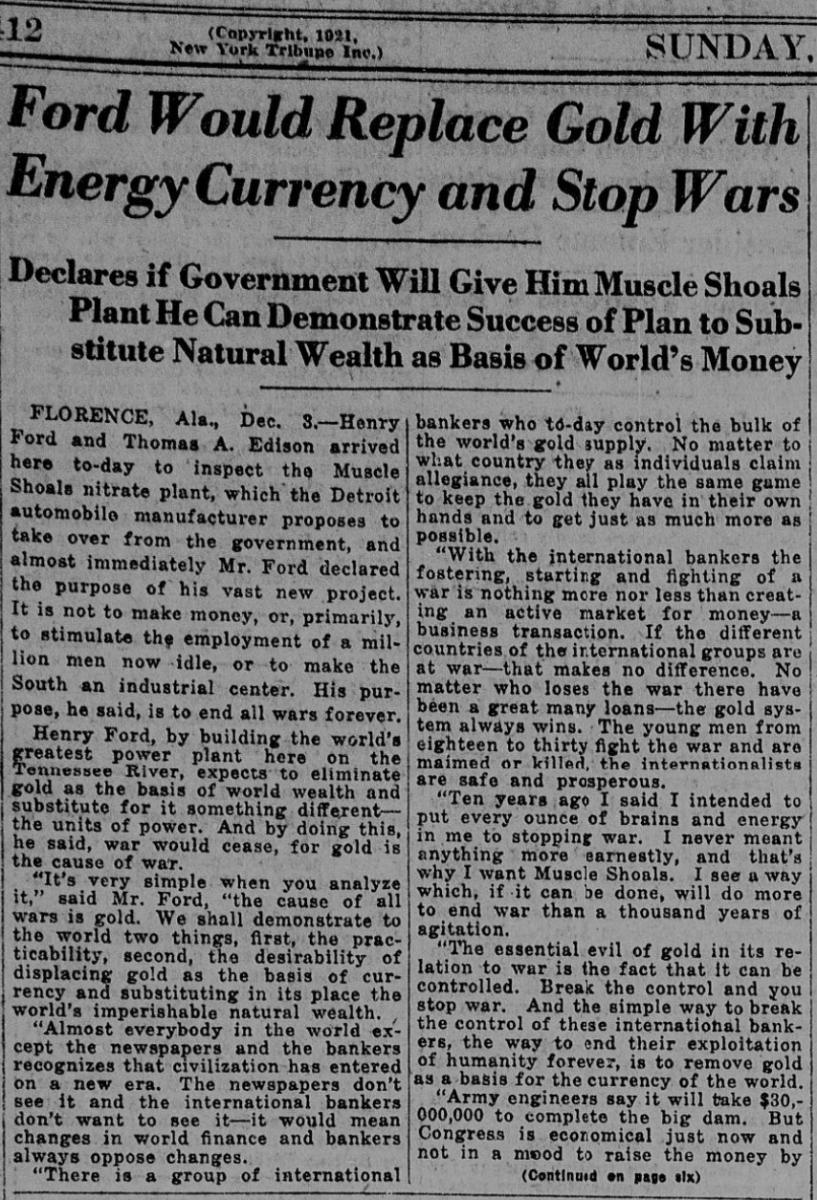 Via The New York Tribune, December 1921.