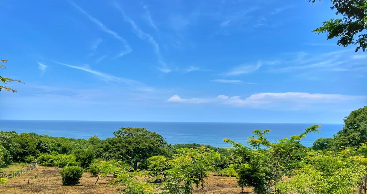 The View from El Zonte up the hill from Bitcoin Beach and future community site of Gran Zonte