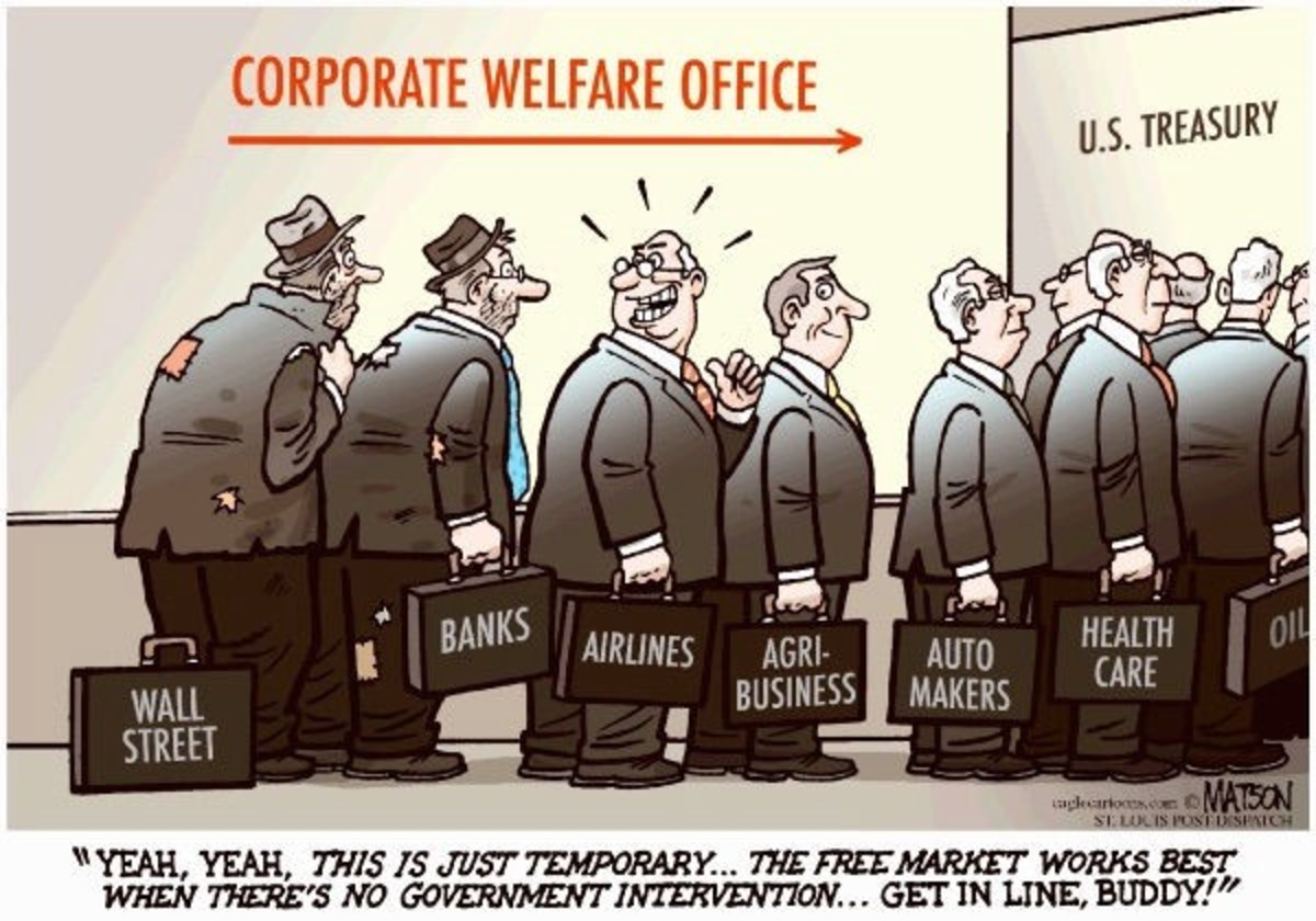 """""""Corporate Welfare"""" by RJ Matson (Source: Distributed to subscribers for publication by Cagle Cartoons, Inc.)"""